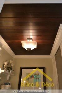 Plafond à lattes et rainures
