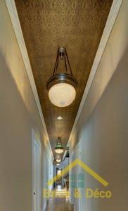 Tuiles de plafond décoratives (étain)