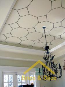 Simple frontière peinte de plafond