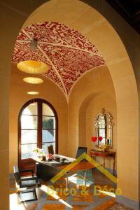 Plafond subtile au pochoir